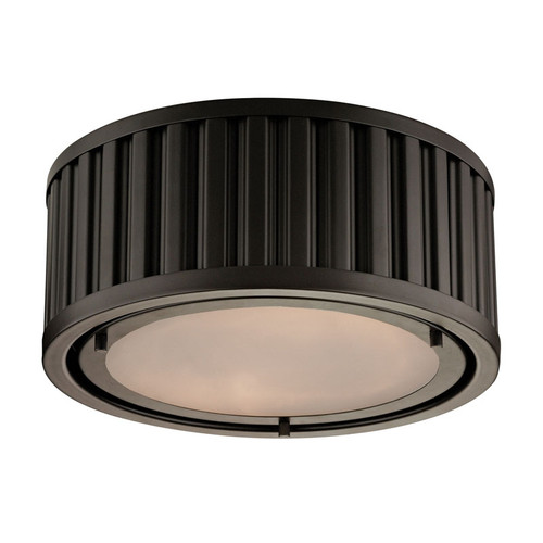ELK Lighting 46130-2 Linden 2 Light Flushmount in Oil-Rubbed Bronze