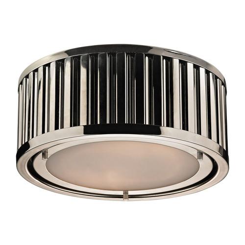 ELK Lighting 46100-2 Linden 2 Light Flushmount in Polished Nickel