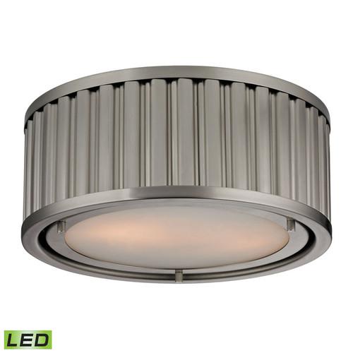 ELK Lighting 46110-2-LED Linden 2 Light Flushmount in Brushed Nickel (LED)