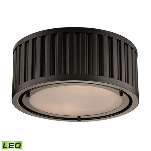 ELK Lighting 46130-2-LED Linden 2 Light Flushmount in Oil-Rubbed Bronze (LED)