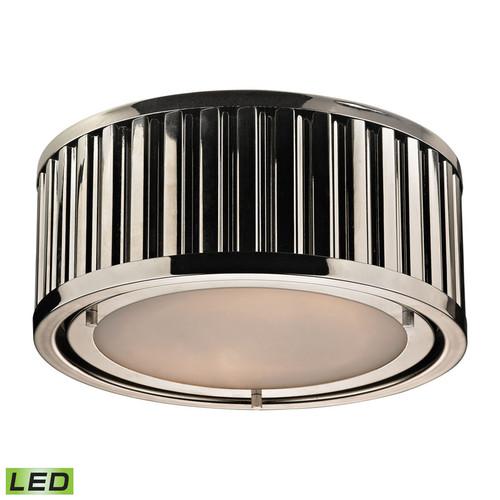 ELK Lighting 46100-2-LED Linden 2 Light Flushmount in Polished Nickel (LED)