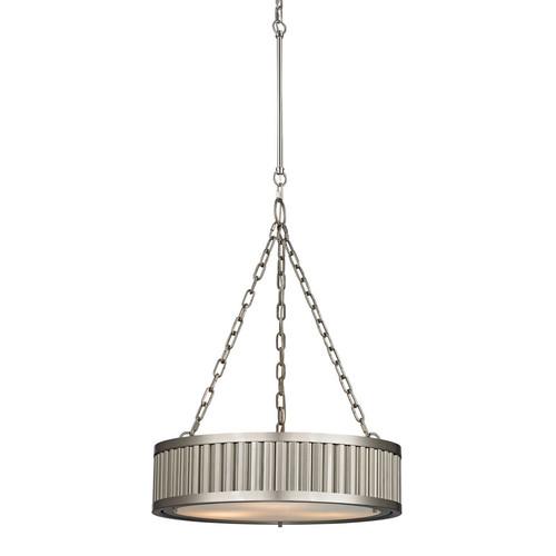 ELK Lighting 46114-3 Linden 3 Light Pendant in Brushed Nickel