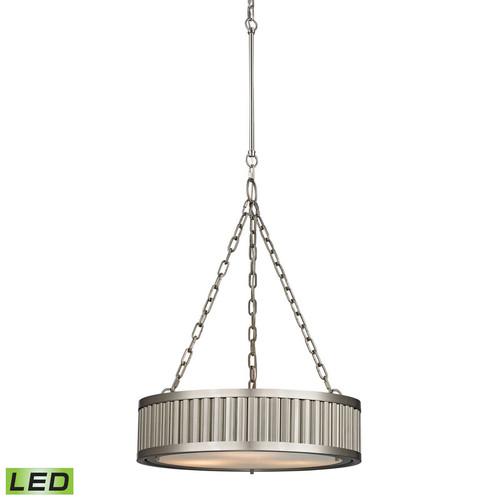 ELK Lighting 46114-3-LED Linden 3 Light Pendant in Brushed Nickel (LED)