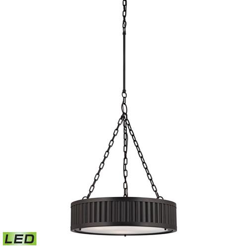 ELK Lighting 46134-3-LED Linden 3 Light Pendant in Oil-Rubbed Bronze (LED)