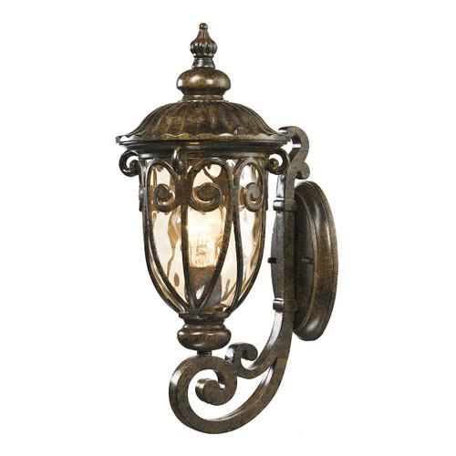 ELK Lighting 45070/1 Logansport 1-Light Outdoor Wall Lamp in Hazelnut Bronze