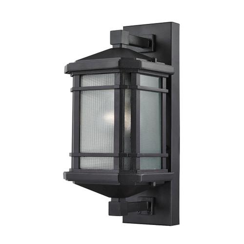 ELK Lighting 87040/1 Lowell 1-Light Outdoor Wall Lamp in Matte Black
