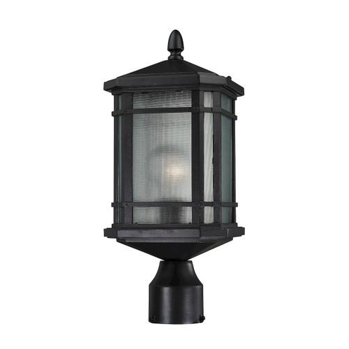 ELK Lighting 87044/1 Lowell 1-Light Outdoor Post Lantern in Matte Black
