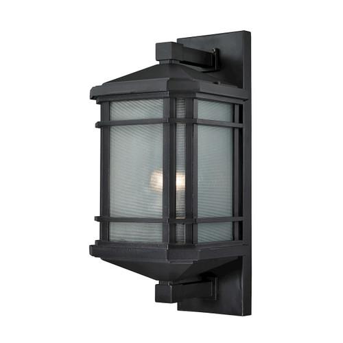 ELK Lighting 87042/1 Lowell 1-Light Outdoor Wall Lamp in Matte Black