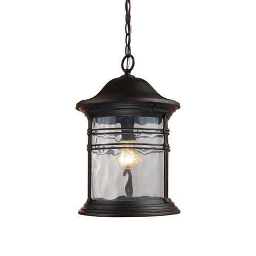 ELK Lighting 08160-MBG Madison 1-Light Outdoor Hanging Lantern in Matte Black