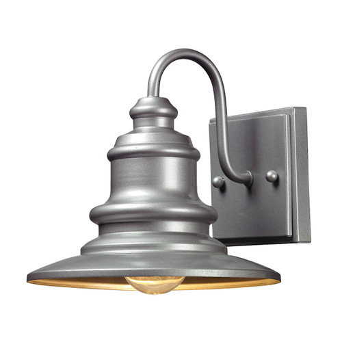 ELK Lighting 47020/1 Marina 1-Light Outdoor Wall Lamp in Matte Silver