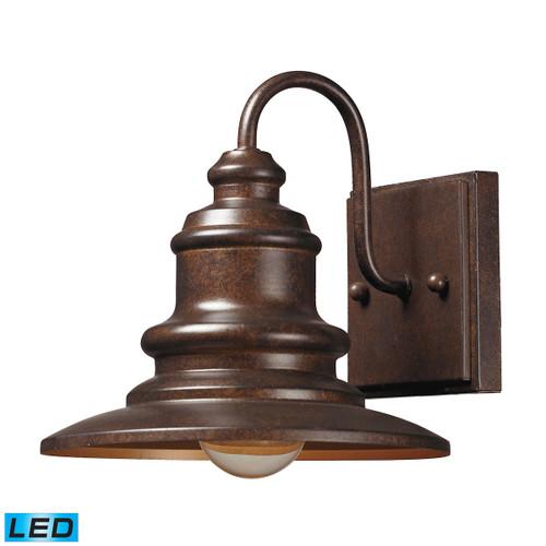 ELK Lighting 47010/1-LED Marina 1-Light Outdoor Wall Lamp in Hazelnut Bronze - Includes LED Bulb