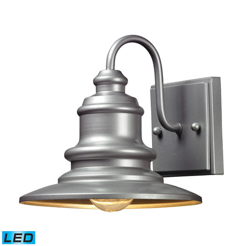 ELK Lighting 47020/1-LED Marina 1-Light Outdoor Wall Lamp in Matte Silver - Includes LED Bulb