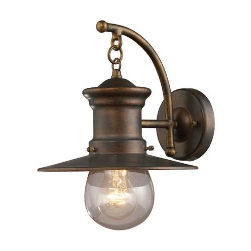 ELK Lighting 42006/1 Maritime 1-Light Outdoor Wall Lamp in Hazelnut Bronze
