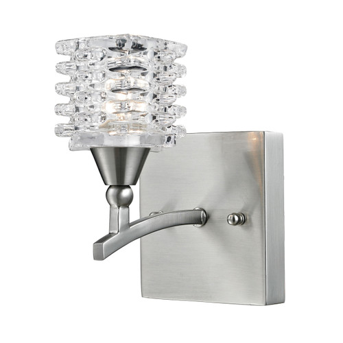 ELK Lighting 17130/1 Matrix 1-Light Vanity Lamp in Satin Nickel with Clear Glass