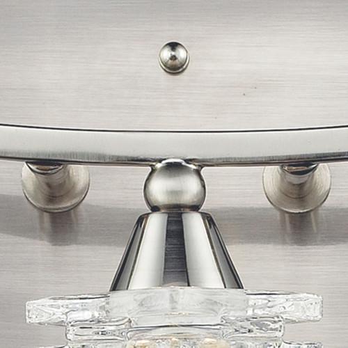 ELK Lighting 17131/3 Matrix 3-Light Vanity Lamp in Satin Nickel with Clear Glass
