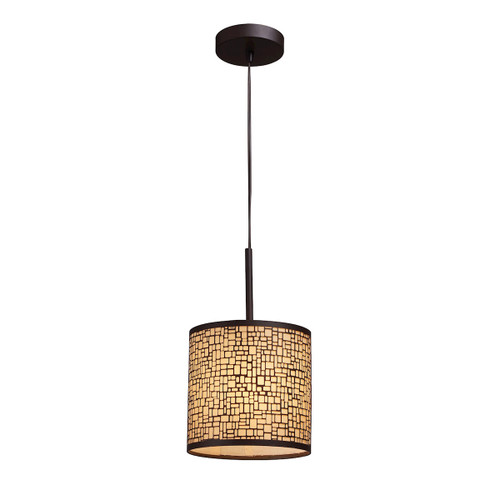 ELK Lighting 31045/1 Medina 1-Light Mini Pendant in Aged Bronze with Amber Glass