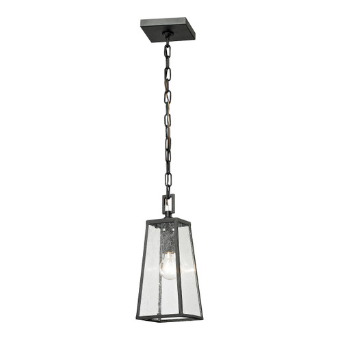 ELK Lighting 45092/1 Meditterano 1-Light Outdoor Pendant in Matte Black