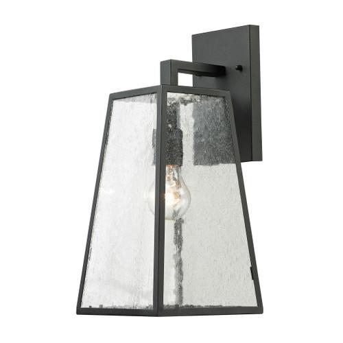 ELK Lighting 45091/1 Meditterano 1-Light Outdoor Wall Lamp in Matte Black - Large