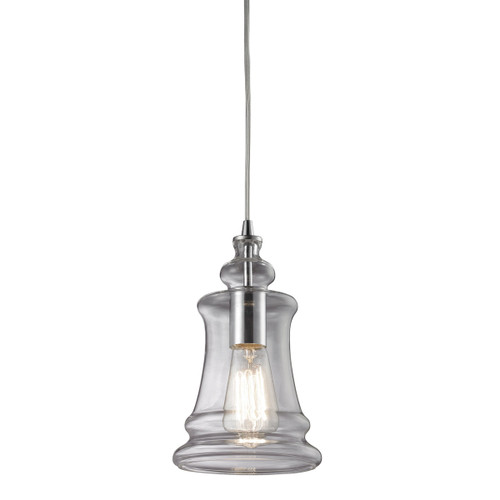 ELK Lighting 60052-1 Menlow Park 1-Light Mini Pendant in Polished Chrome with Smoked Glass
