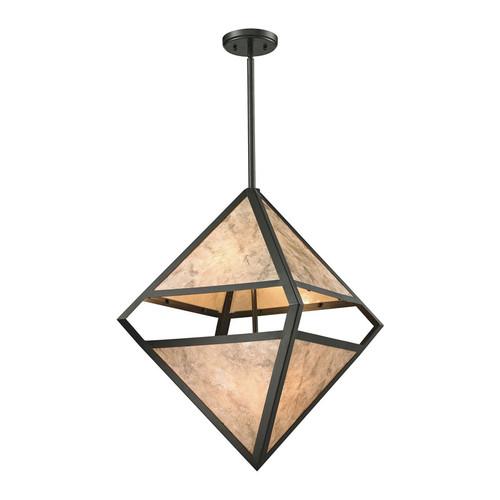 ELK Lighting 66931-4 Mica 4 Light Pendant in Oil-Rubbed Bronze