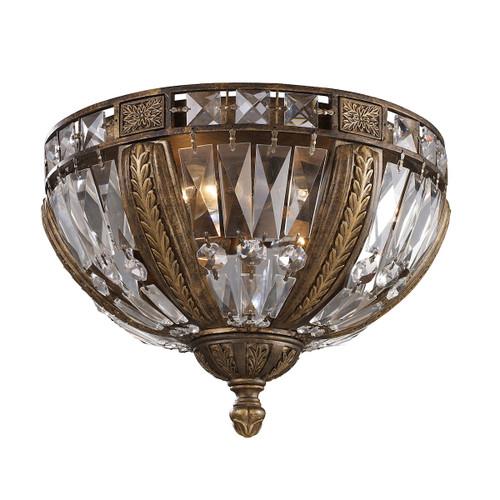 ELK Lighting 2493/4 Millwood 4-Light Flush Mount in Antique Bronze with Crystal