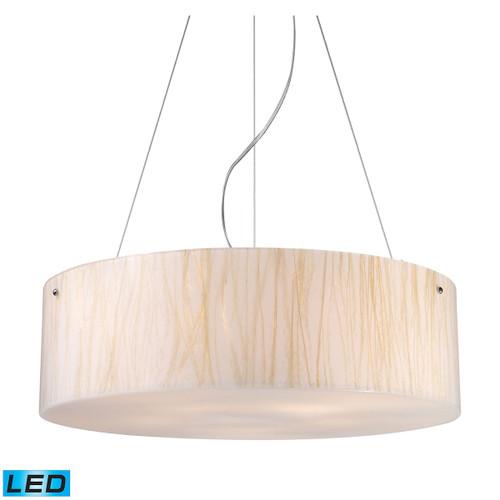ELK Lighting 19033/5-LED Modern Organics 5-Light Chandelier in Chrome with Sawgrass Shade - Includes LED Bulbs