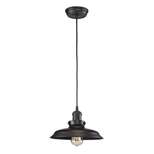 ELK Lighting 55041/1 Newberry 1-Light Mini Pendant in Oil Rubbed Bronze with Matching Shade
