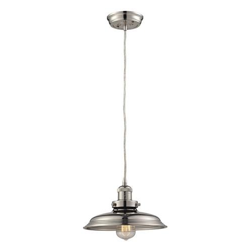 ELK Lighting 55011-1 Newberry 1 Light Mini Pendant in Polished Nickel