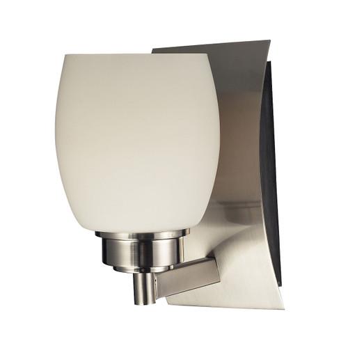 ELK Lighting 17100/1 Northport 1-Light Vanity Lamp in Satin Nickel with Opal Glass