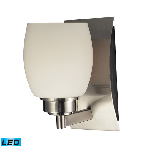 ELK Lighting 17100/1-LED Northport 1-Light Vanity Lamp in Satin Nickel with Opal Glass - Includes LED Bulb