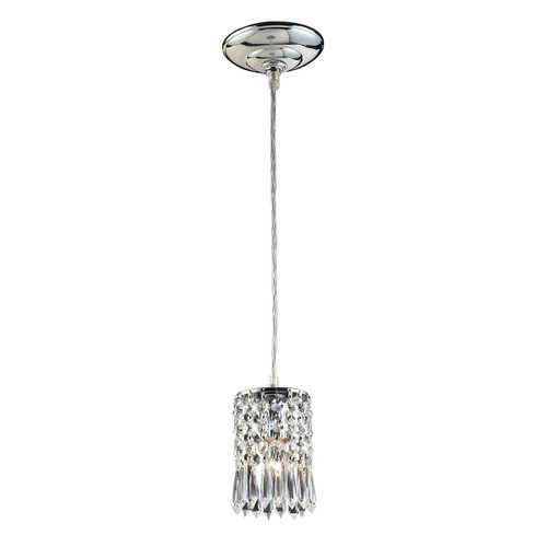 ELK Lighting 2997/1A Optix 1-Light Mini Pendant in Polished Chrome with Clear Crystal