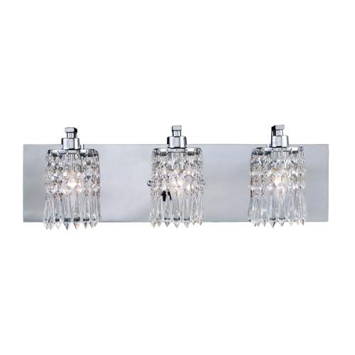 ELK Lighting 11230/3 Optix 3-Light Vanity Sconce in Polished Chrome with Clear Crystal