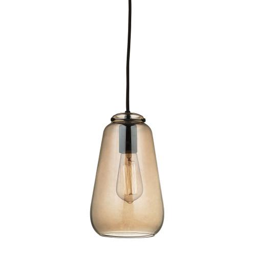ELK Lighting 10433/1 Orbital 1-Light Mini Pendant in Oil Rubbed Bronze with Light Amber Glass
