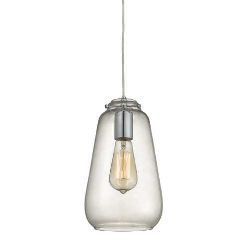 ELK Lighting 10423/1 Orbital 1-Light Mini Pendant in Polished Chrome with Clear Glass