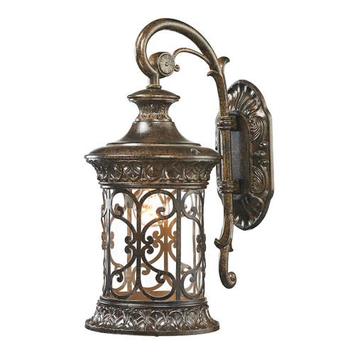 ELK Lighting 45080/1 Orlean 1-Light Outdoor Wall Lamp in Hazelnut Bronze
