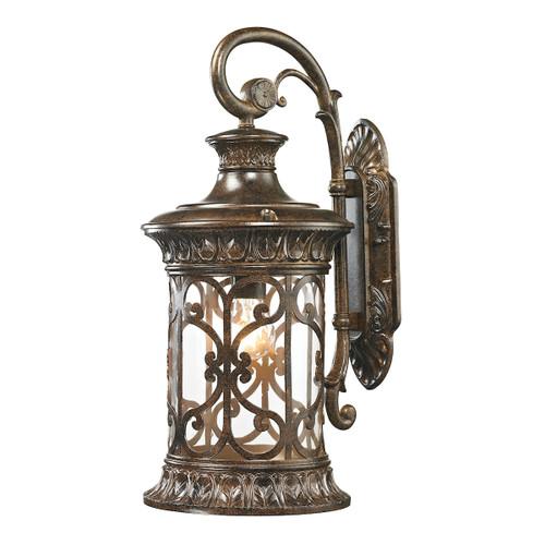 ELK Lighting 45081/1 Orlean 1-Light Outdoor Wall Lamp in Hazelnut Bronze
