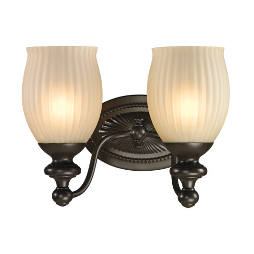 ELK Lighting 11651/2 Park Ridge 2-Light Vanity Lamp in Oil Rubbed Bronze with Reeded Glass