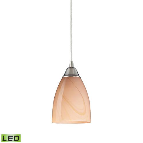 ELK Lighting 527-1SY-LED Pierra 1-Light Mini Pendant in Satin Nickel with Sandy Glass - Includes LED Bulb