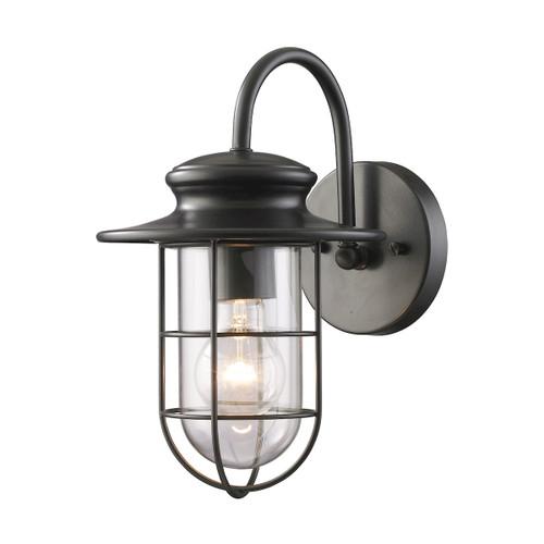 ELK Lighting 42284/1 Portside 1-Light Outdoor Wall Lamp in Matte Black