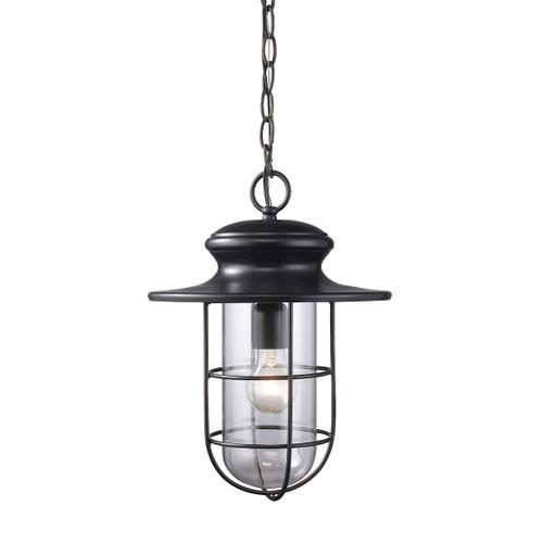 ELK Lighting 42286/1 Portside 1-Light Outdoor Pendant in Matte Black