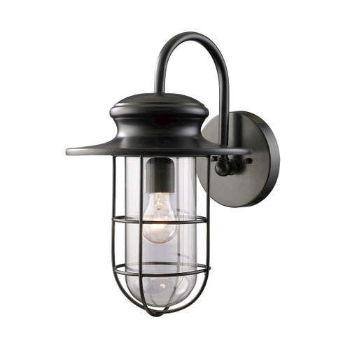 ELK Lighting 42285/1 Portside 1-Light Outdoor Wall Lamp in Matte Black