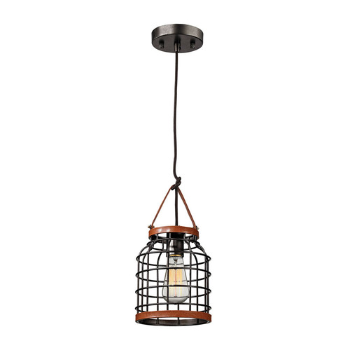 ELK Lighting 14306-1 Purcell 1 Light Pendant in Weathered Iron