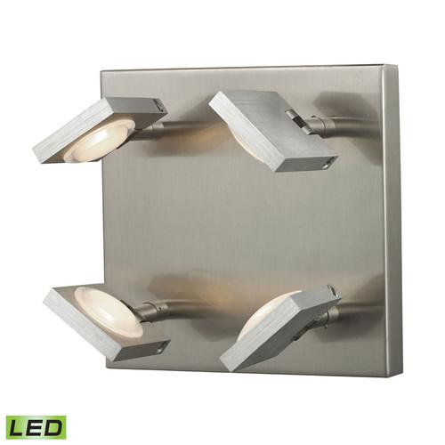ELK Lighting 54013-4 Reilly 4 Light Sconce in Brushed Nickel-Brushed Aluminum