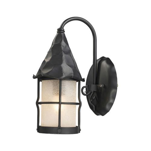 ELK Lighting 381-BK Rustica 1-Light Outdoor Wall Lamp in Matte Black