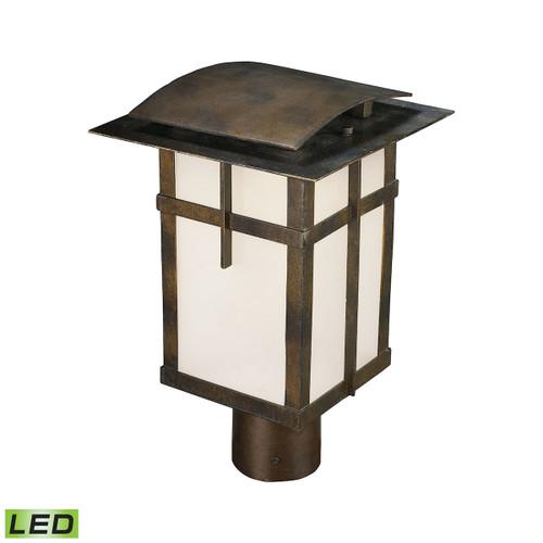 ELK Lighting 64013-1 San Fernando 1-Light Outdoor Post Mount in Hazelnut Bronze