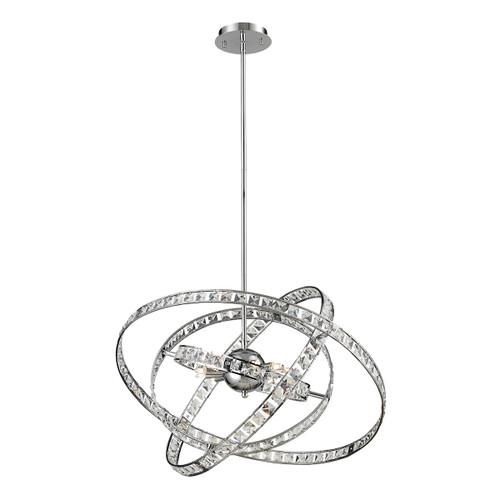 ELK Lighting 82030/6 Saturn 6-Light Chandelier in Chrome with Crystal