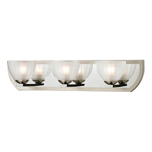 ELK Lighting 11597-3 Sculptive 3 Light Bath in Polished Nickel-Matte Nickel
