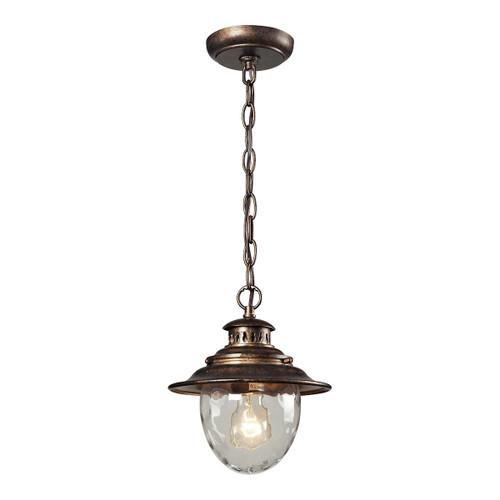 ELK Lighting 45031/1 Searsport 1-Light Outdoor Pendant in Regal Bronze