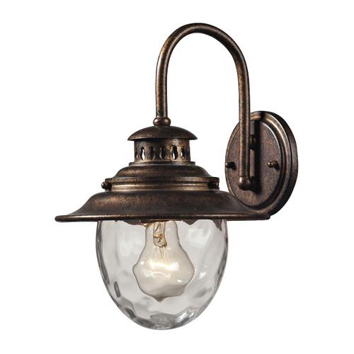 ELK Lighting 45030/1 Searsport 1-Light Outdoor Wall Lamp in Regal Bronze
