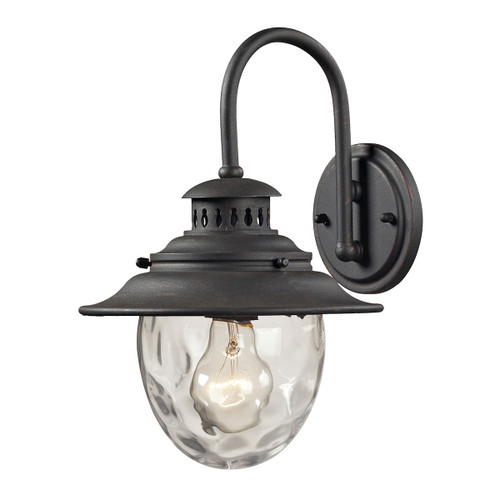 ELK Lighting 45040/1 Searsport 1-Light Outdoor Wall Lamp in Weathered Charcoal